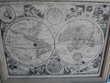 tableau mappemonde 56x45 les 2 hemispheres