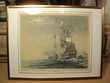Tableau Marine Albert Sébille Lithographie Ancienne Gouache. Loches (37)