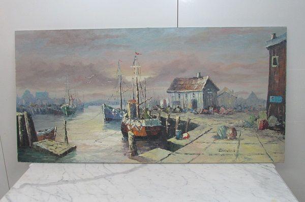 Tableau marine , peinture à l'huile, signée BONEN 260 Paris 15 (75)