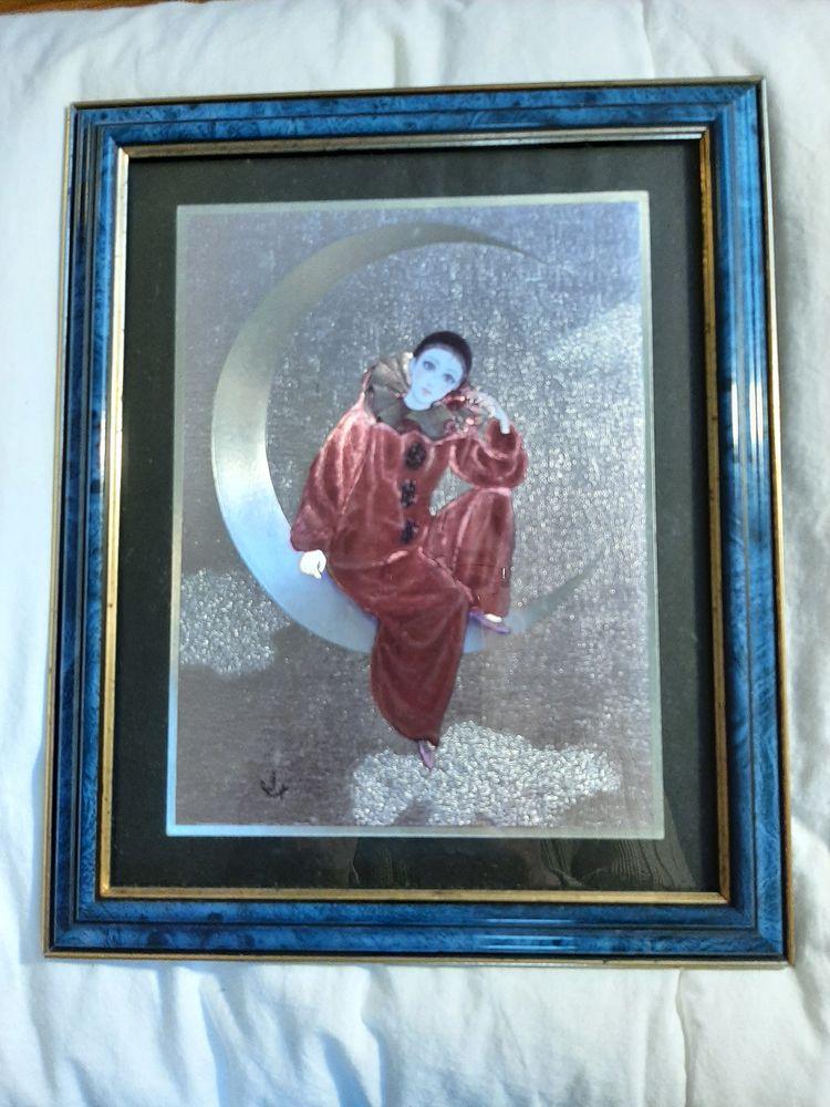 Tableau métal, Pierrot au clair de la lune 8 Biarritz (64)