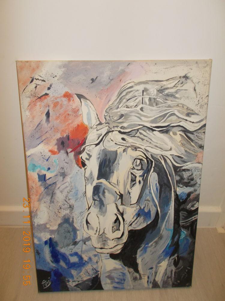 Tableau moderne acrylique sur toile 120 Nieppe (59)
