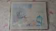 Tableau moderne encadré inox 71 X 56 Décoration