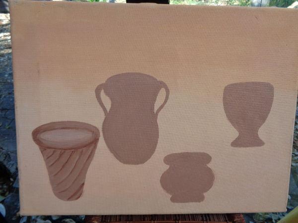 tableau nature morte (vases)(40x30) 2 Ondres (40)