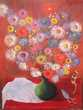 Tableau Nature Morte Bouquet de Fleurs XXème Loches (37)