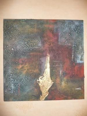 Tableau neuf peinture huilée en relief 50x50 40 Servon (77)