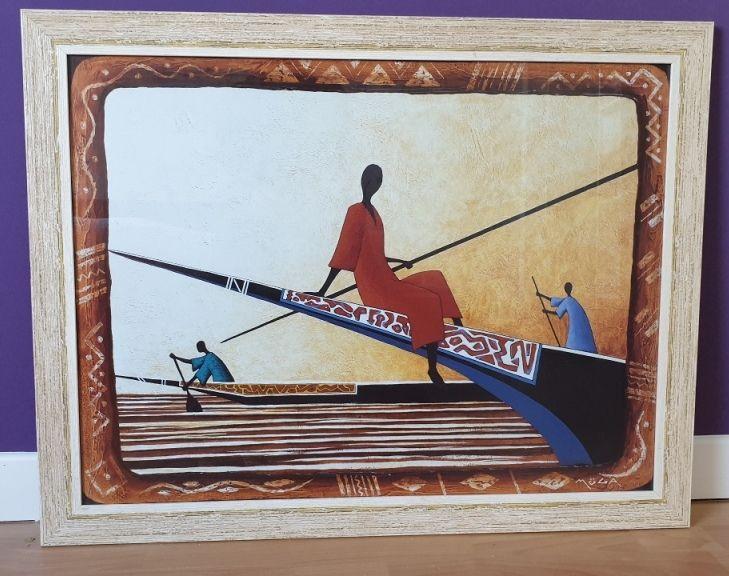 Tableau de pêche en Afrique. 10 Muzillac (56)