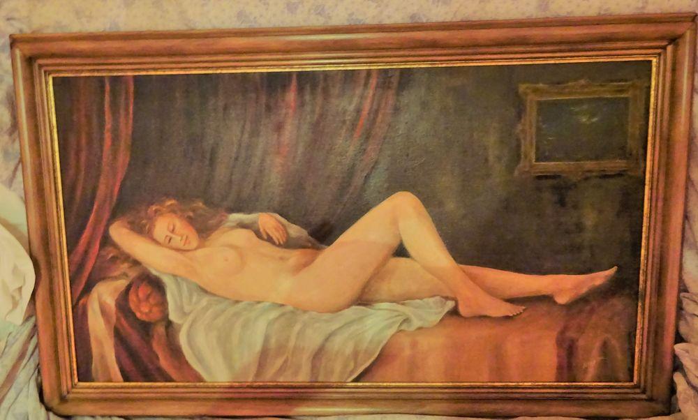 tableau  peint sur toile  et signé   70 Altorf (67)