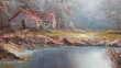 Tableau peinture acrylique sur toile : 'Paysage Automne'