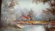 Tableau peinture  A l'aube de l'Automne , pour votre salon Paris 5 (75)
