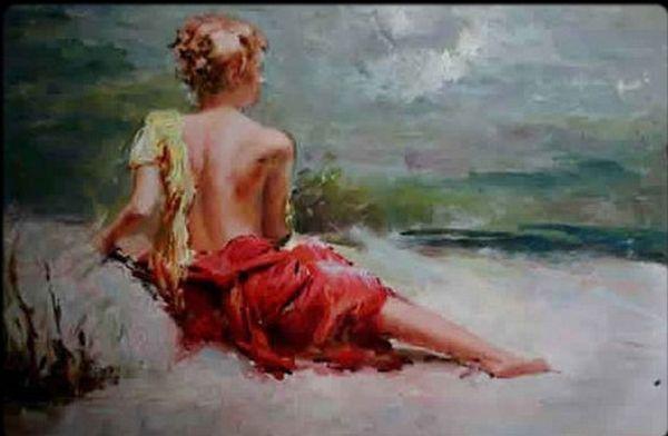 tableau peinture de femme
