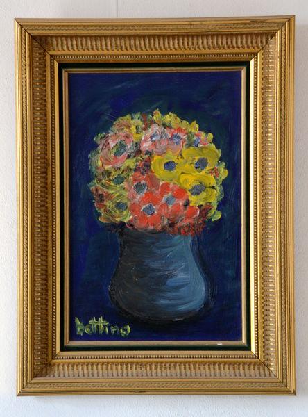Tableau peinture à l'huile sur toile bouquet de fleurs 450 Marseille 16 (13)