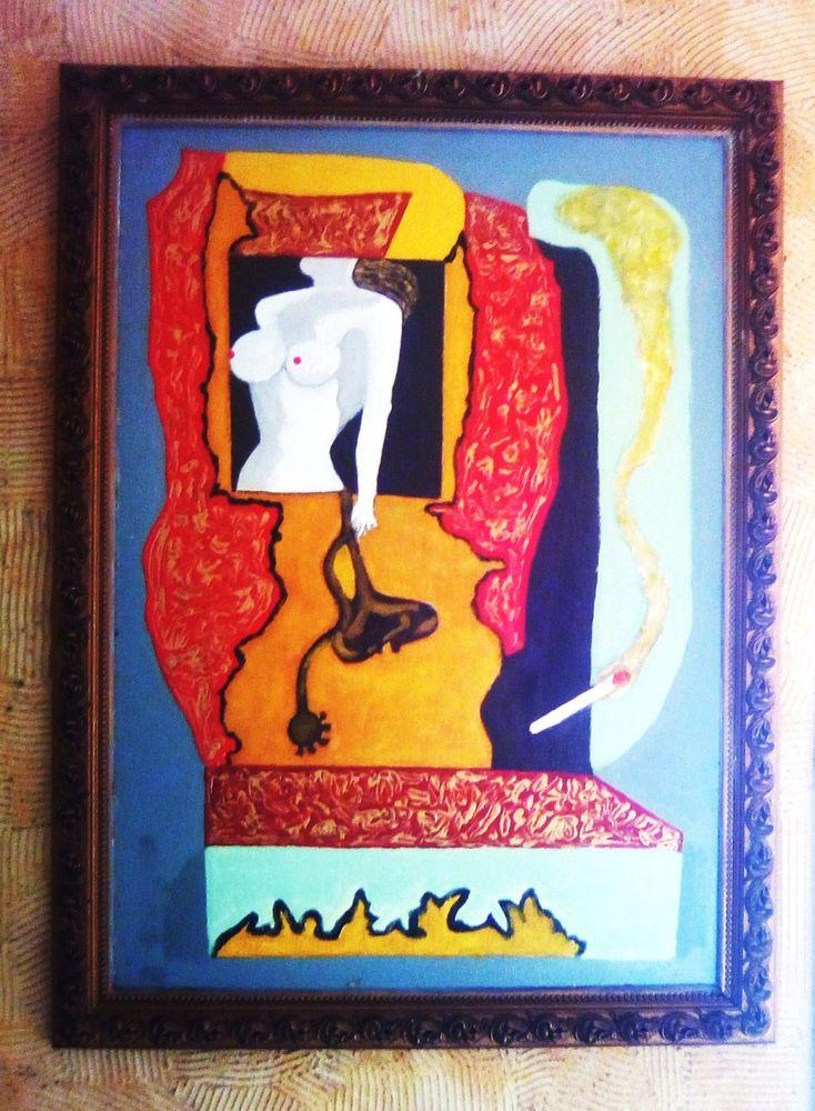 Tableau Peinture Huile sur Bois.  75 Cagnes-sur-Mer (06)