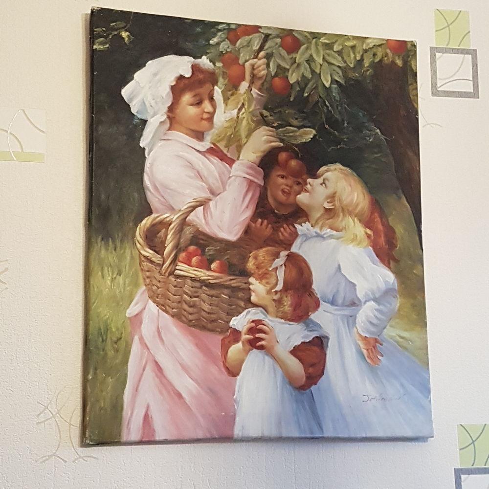 Tableau peinture à l'huile. 60x60cm.signé jeneston,  0 Clermont-Ferrand (63)