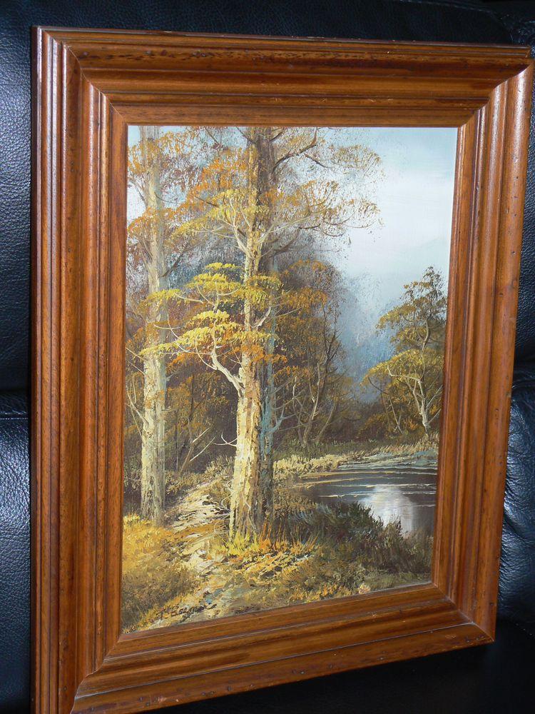 Tableau peinture à l'huile avec cadre en bois 43,5/53,5 cm  50 Ingwiller (67)