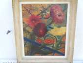 Tableau ; peinture sur toile encadrée. 100 Hourtin (33)
