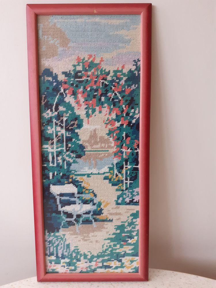 Tableau de pergola et banc, canevas sous verre 8 Saint-Herblain (44)