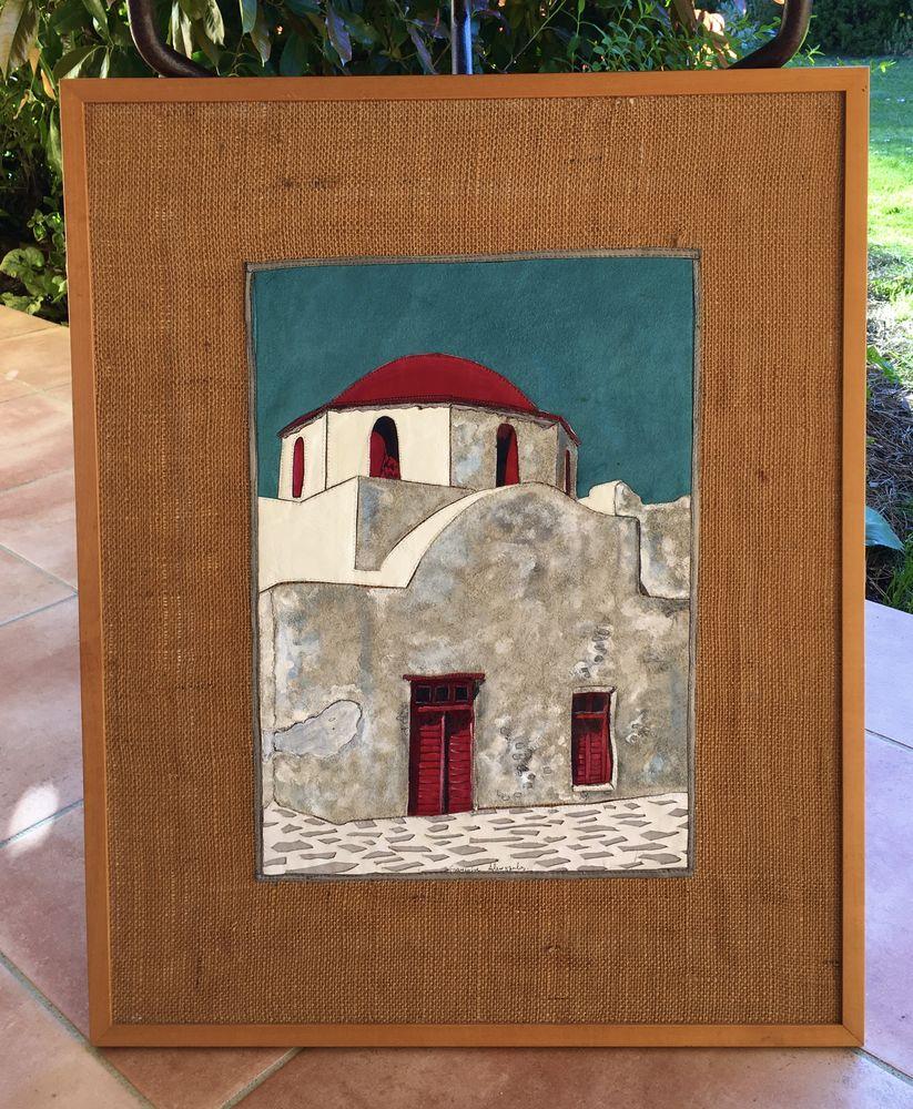 Tableau: pièce unique,patchwork de cuirs découpés,travaillés 124 L'Isle-Jourdain (32)