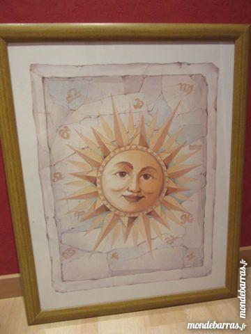 Tableau -  représentation soleil  en parfait état 35 Livry-Gargan (93)