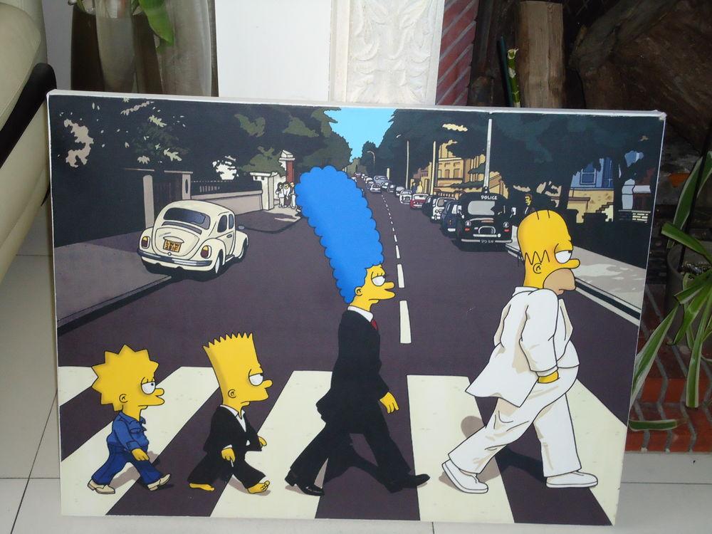 Tableau Simpson The Beatles 22 Saint-Brice-sous-Forêt (95)