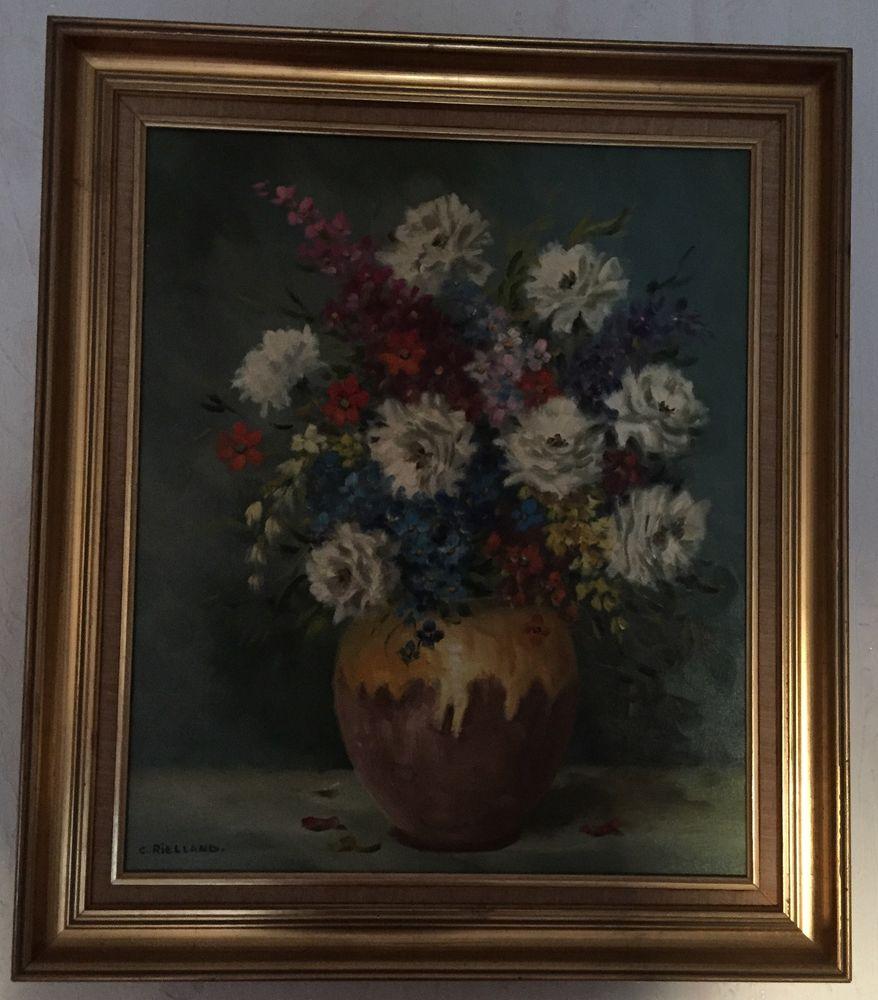 Tableau thème Fleurs de C. RIELLAND 58cm X 67cm 0 Montreuil (93)