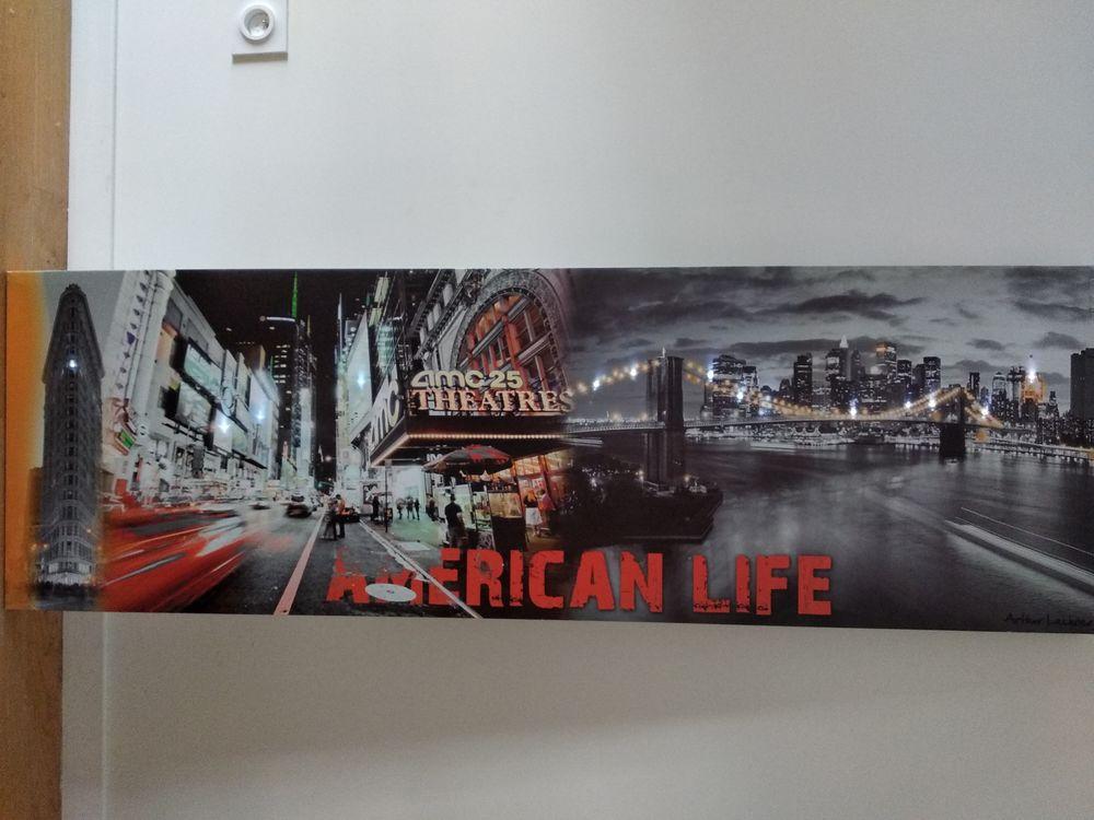 Tableau en toile LED  american life  15 Bordeaux (33)