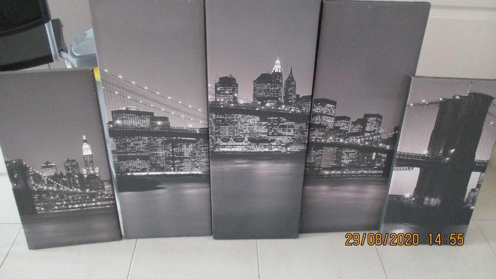 tableau toilé en 5 éléments de New York 20 Perpignan (66)