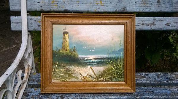 tableau toile représentant un phare  50 La Charité-sur-Loire (58)