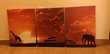 Tableaux cadres triptyque toiles