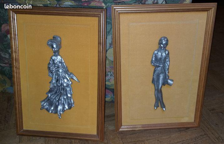 Lot de 2 tableaux les Etains de Fiorantina 40 Combrit (29)