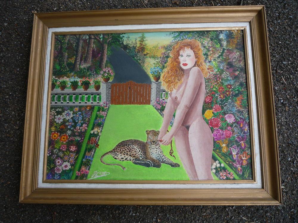 Tableaux /peinture /nue/léopard 77,5cm x 62,5cm 65 Castres (81)