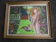 Tableaux /peinture /nue/léopard 77,5cm x 62,5cm