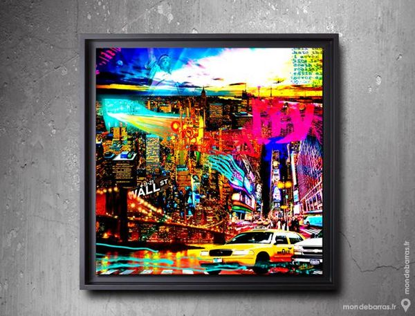 Tableaux New York, Moscou - pop art Décoration