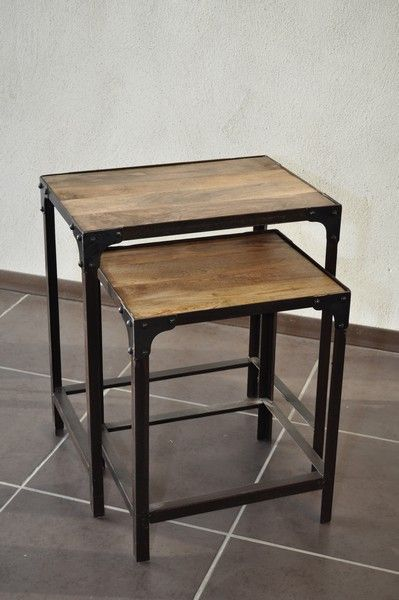 Tables basse gigognes style industrielle 145 Valence (26)