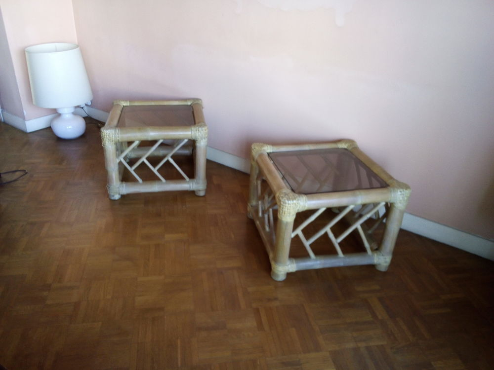 Tables basses en bambou dessus verre : 40 Marseille 8 (13)