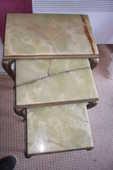 lot de 3 tables basses gygogne bronze dessus onyx 90 Amélie-les-Bains-Palalda (66)