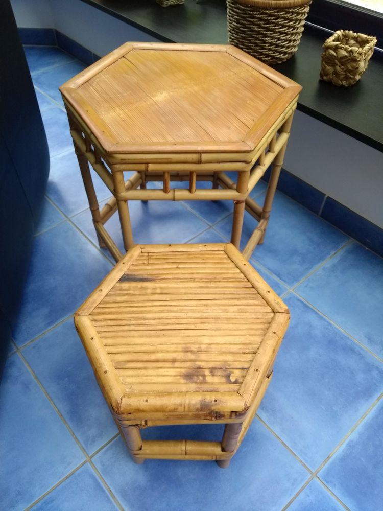 2 Tables Basses en Rotin 45 L'Étang-Bertrand (50)
