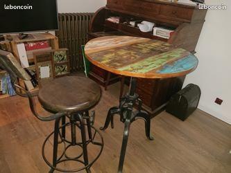 Tables en bois style industriel loft 250 Clamart (92)