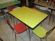 tables chaises et tabourets en formica vintage