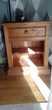 2 tables de chevet en pin massif ciré interior s