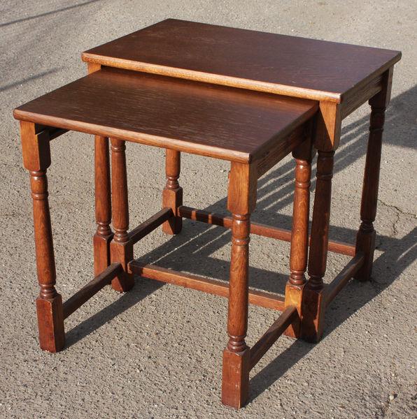 Tables gigognes années 70, en bois 65 Carrières-sur-Seine (78)