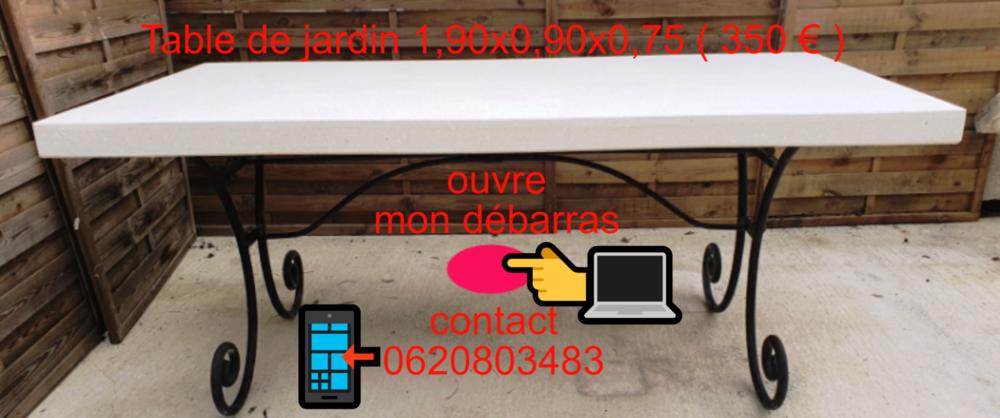TABLES DE JARDIN D' EXTERIEUR OU D' INTERIEUR ET AUTRES  0 Beaucaire (30)