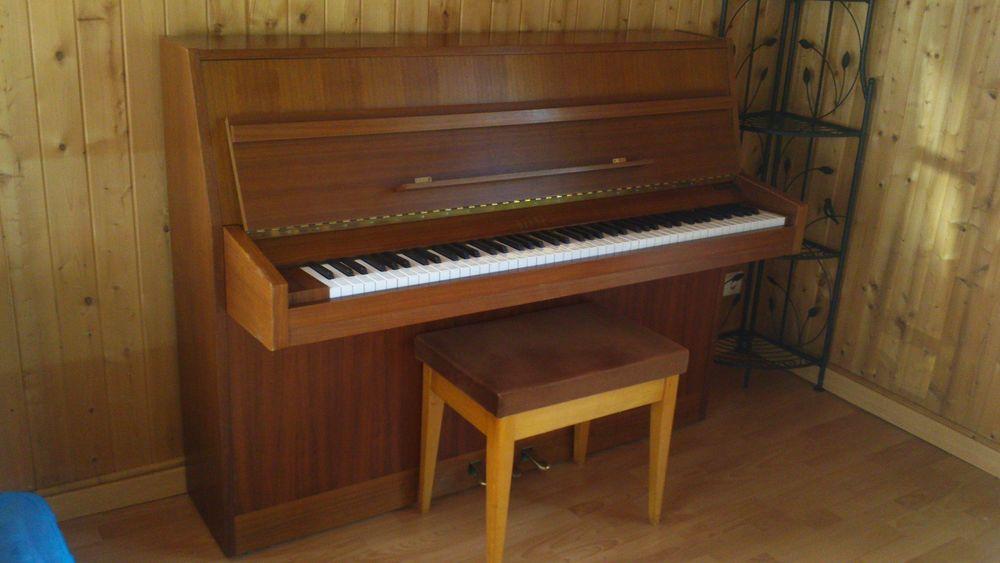 Tabouret de piano velours marron pieds clairs 90 Olivet (45)