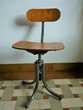 tabouret pivotant des années 1950 en bois et acier Meubles