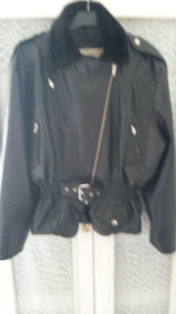Tailleur bordeaux- - perfecto cuir noir 40 Nanterre (92)