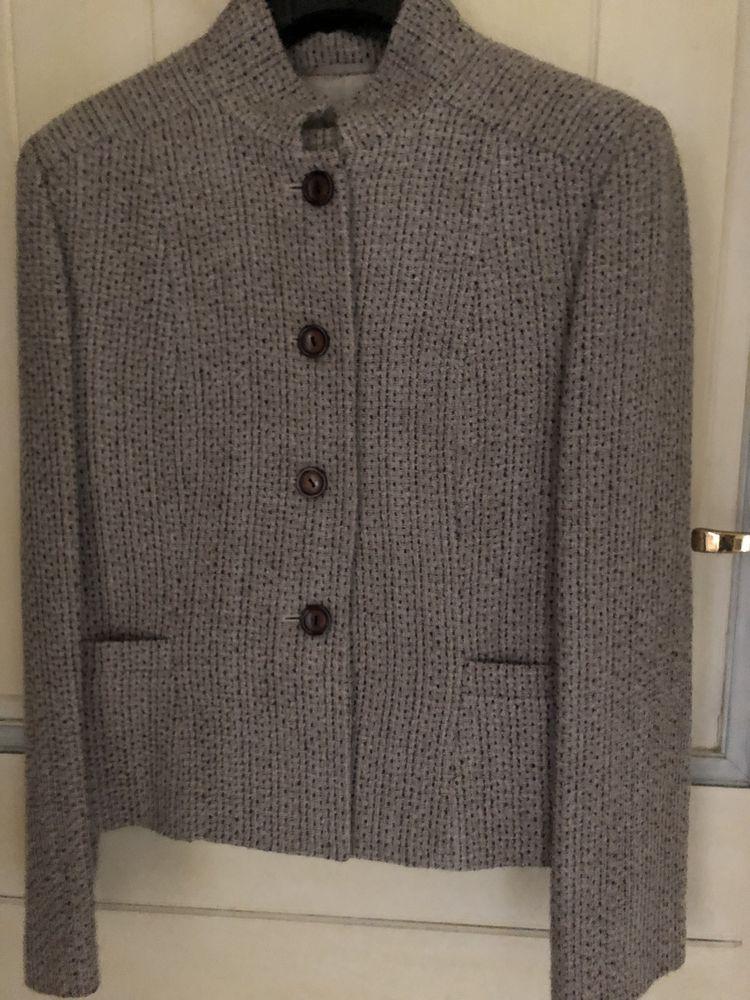 Tailleur chic veste/pantalon couleur crème chiné marron T40, 0 Le Cannet (06)