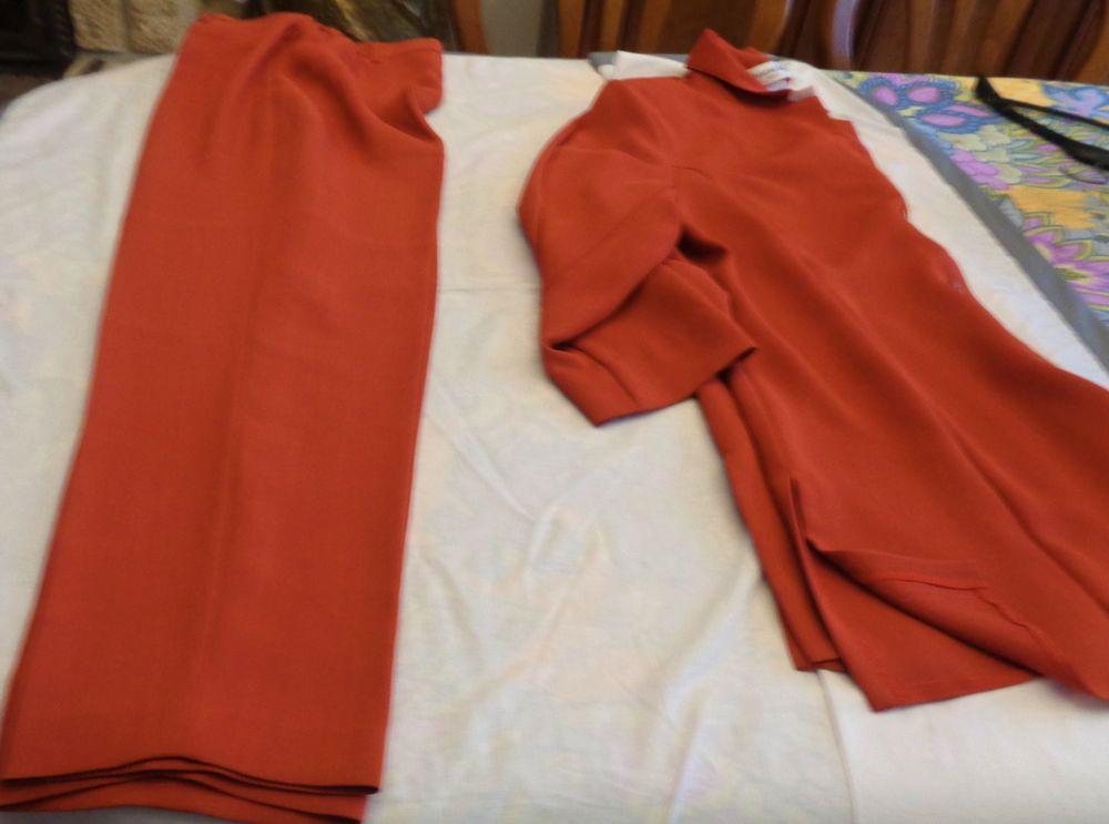 tailleur femme c-laure t vet 48 pant 46 bordeaux Vêtements