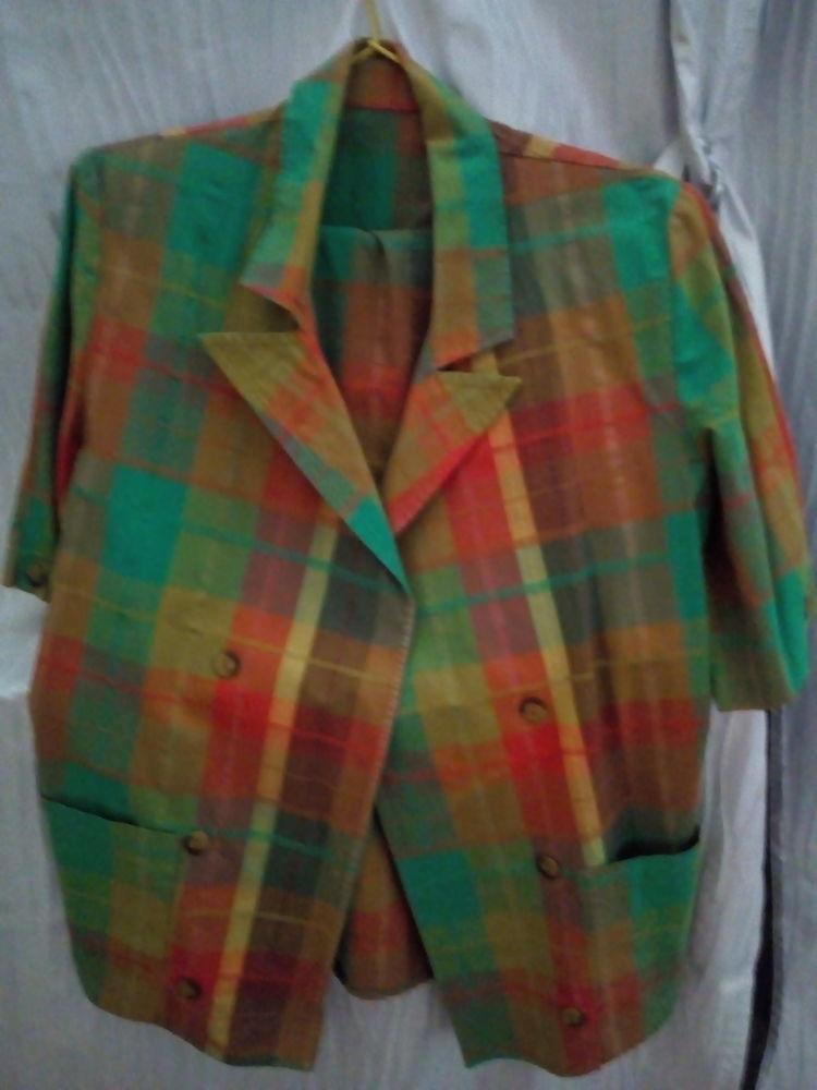 Tailleur jupe taille 38 à carreaux (tendance verte) 15 Savigny-sur-Orge (91)