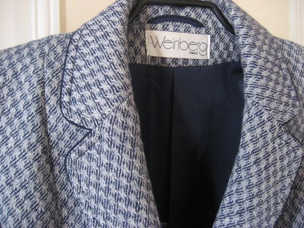Tailleur veste et jupe WEINBERG Pure Laine T14 40 Nyons (26)