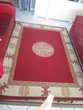 tapis de couleur bordeau crème 170 X 230 Décoration