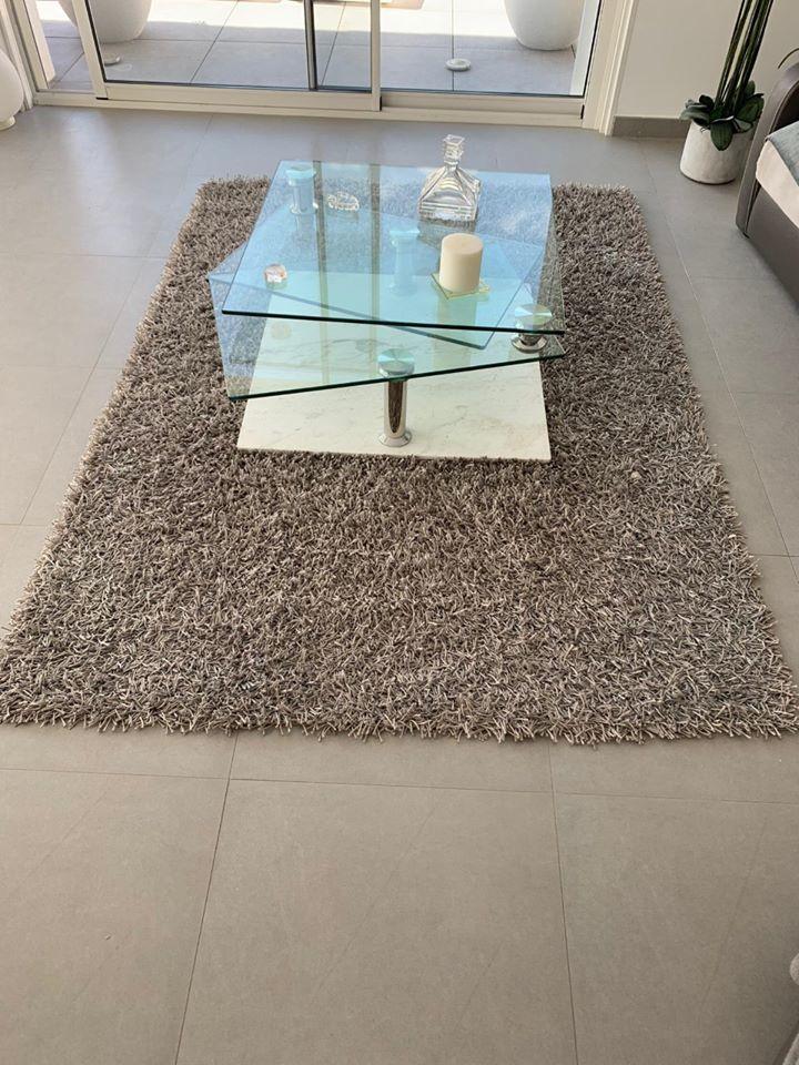 tapis haute qualité, 160x220, gris 60 Poisy (74)